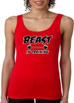 Juiceclouds Workout JUNIORS Tank Top Beast In Training S-2XL (, XL)
