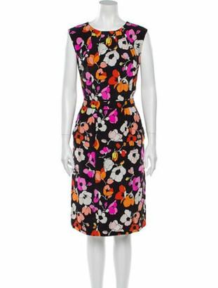 Oscar de la Renta 2016 Knee-Length Dress Black