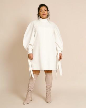 Carolina Herrera Raglan Mini Dress