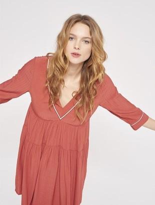 Mila Louise Grace & Rust Samy Dress - L - Pink/Red
