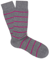Pantherella Blavet Striped Egyptian Cotton-Blend Socks