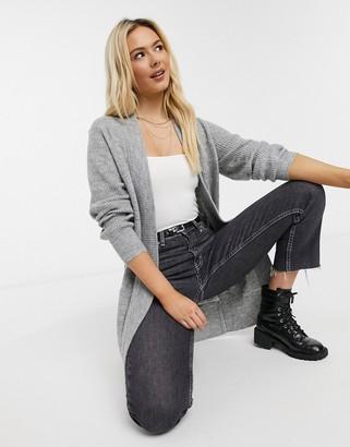 New Look longline cardigan in light grey