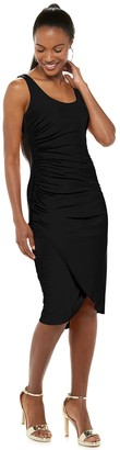 JLO by Jennifer Lopez Women's Side-Ruched Fitted Dress