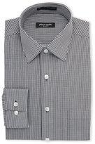 Pierre Cardin Black & White Gingham Slim Fit Dress Shirt