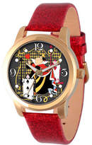 Disney Princess Disney Womens Alice In Wonderland Red And Gold Tone Red Queen Strap Watch Family