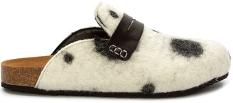 J.W.Anderson Dalmatian-Effect Loafer-Style Mules