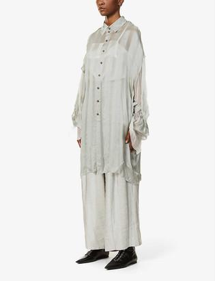 Phaedo Asymmetric silk shirt