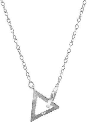 Anchor & Crew Geometric Triangle Link Paradise Silver Necklace Pendant