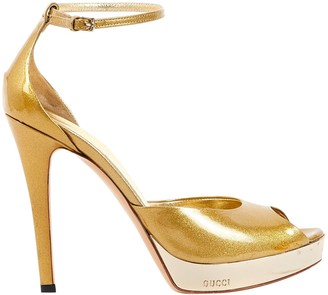 Gucci Gold Patent leather Heels