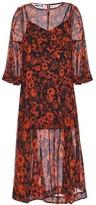 McQ Floral-print Silk-chiffon Dress