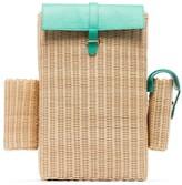 Natasha Zinko Woven Straw Backpack