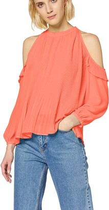 True Religion Women's PLEETED Off Shoulder TOP Blouse