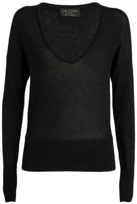 Rag & Bone Cashmere Scoop-Neck Mandee Sweater
