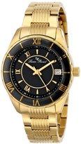 Lucien Piccard Women's LP-12741-YG-11-BCB Saraille Analog Display Japanese Quartz Gold Watch
