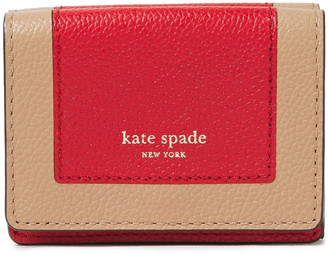 Kate Spade Margaux Two-tone Pebbled-leather Wallet