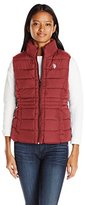 U.S. Polo Assn. Women's Quilted Vest with Sherpa Lining
