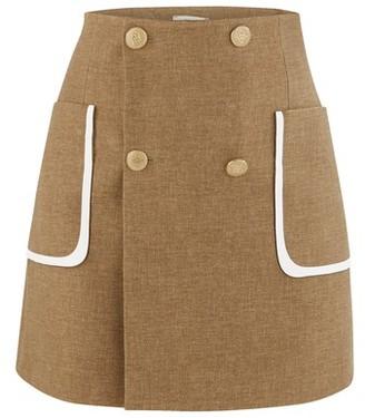Fendi Wool And Silk Skirt