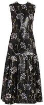 Giambattista Valli Floral Sequin-Embroidered Midi Dress