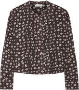 Etoile Isabel Marant Fali pintucked printed modal shirt
