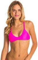Stone Fox Swim Solid Indie Braided Halter Bikini Top 8135116