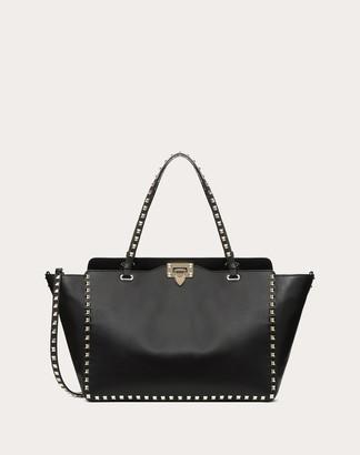 Valentino Garavani Medium Rockstud Bag Women Black Calfskin 100% OneSize