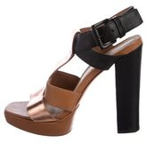 Elizabeth and James Leather Platform Sandals