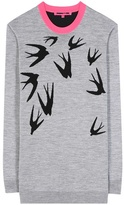 McQ by Alexander McQueen Printed Wool Sweater