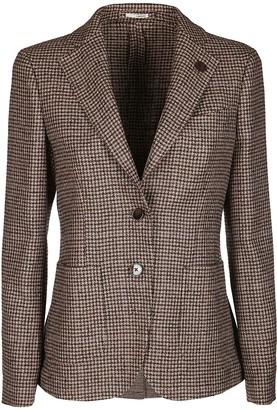Lardini Brown Wool-silk Blend Blazer