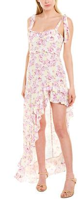For Love & Lemons High-Low Midi Dress