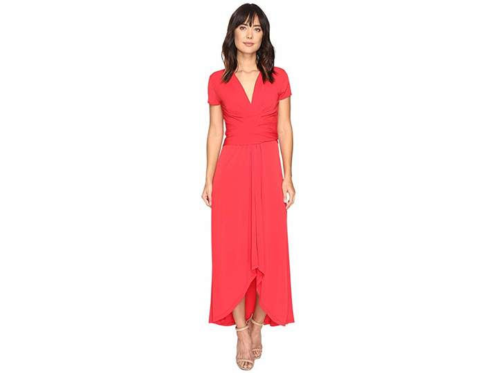 MICHAEL Michael Kors Short Sleeve Maxi Wrap Dress