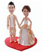 IntoU Model 46 Fully Customized Bobble-head Polymer Clay Figurines/sculpture From Head to Toe Based on Customers' Photos Using As Wedding Cake Topper, Gifts, Souvenirs, Decorations