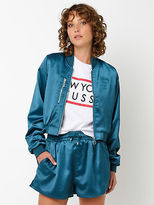 Stussy New Womens Transit Bomber In Teal Jackets Bomber Street Style