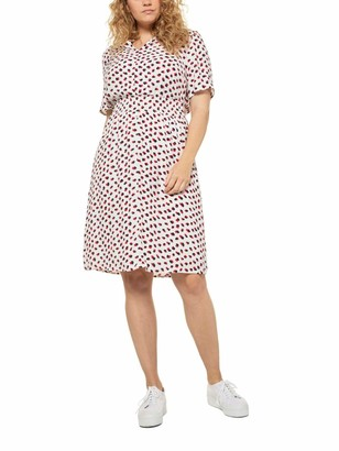 Ulla Popken Women's Groe Groen Kleid Halbarm Mit Druck Dress
