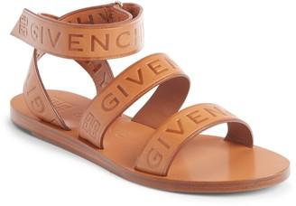 Givenchy Logo Ankle Strap Sandal
