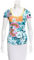 Galliano Floral Jersey Top