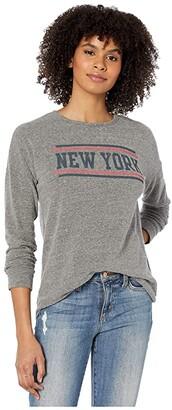 The Original Retro Brand Super Soft Haaci New York Pullover (Heather Grey) Women's Clothing