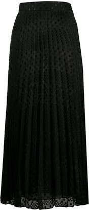 Emporio Armani Polka Dot Pleated Skirt