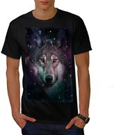 Space Wars Wolf Face Star Night Men NEW XXXL T-shirt | Wellcoda