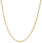 "Zales Men's 14K Gold 2.1mm Wheat Chain Necklace - 30"""