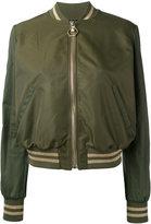 Philipp Plein Diena bomber jacket - women - Cotton/Polyamide/Spandex/Elastane/Viscose - XS