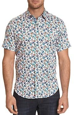 Robert Graham Camera Print Short-Sleeve Classic Fit Button-Down Shirt