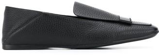 Sergio Rossi Pebble Square Toe Loafers