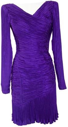 Ungaro Purple Silk Dress for Women Vintage