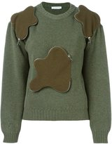 J.W.Anderson zipped cloud detail sweater - women - Merino - M