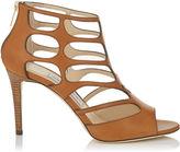 Jimmy Choo REN 85 Canyon Vacchetta Leather Sandals