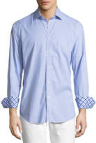 Neiman Marcus Mini Check-Print Long-Sleeve Sport Shirt