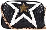Stella McCartney Mccartney Quilted Python-embossed Star Shoulder Bag