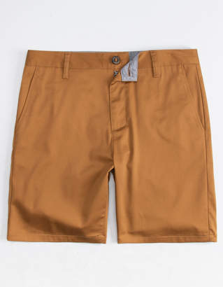 Blue Crown Slim Tobacco Mens Chino Shorts
