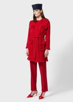 Giorgio Armani Weft-Knit Coat With Loop-Stitch Details