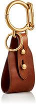 Prada Men's Leather Key Chain-BROWN